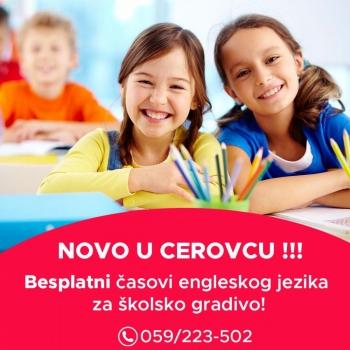 NOVO: Besplatni časovi engleskog jezika u Cerovcu!