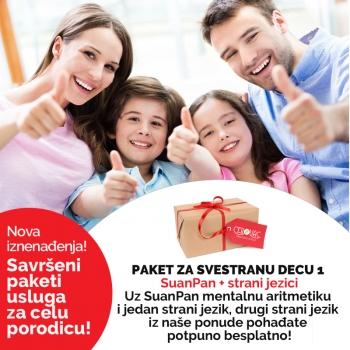 Savršeni paketi usluga za celu porodicu!
