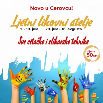 Novo u Cerovcu - Ljetnji likovni atelje!