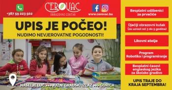 Od septembra budi u Cerovcu!