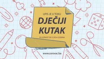 UPIS: Dječiji kutak - omiljena školica u Cerovcu!