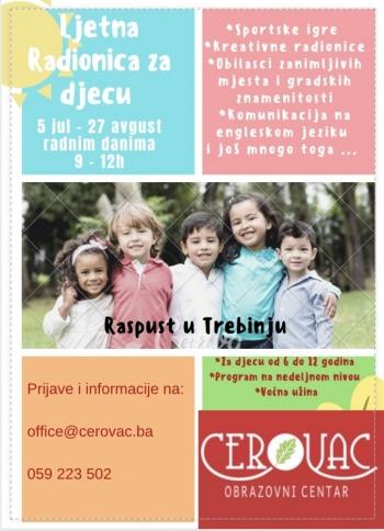 Ljetnja radionica za djecu u Obrazovnom centru Cerovac!